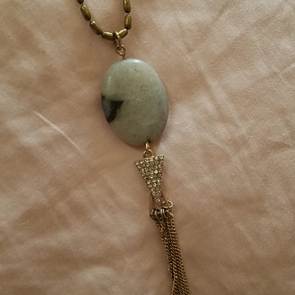 Maurices Long Fashion Stone & Tassle Necklace